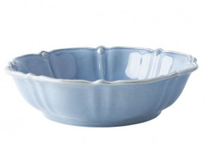 Berry and Thread Serving Bowl Chambray