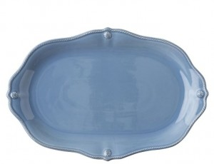 Berry and Thread Platter Chambray