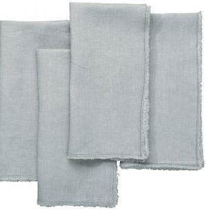 Fringe Napkin in Blue/Grey