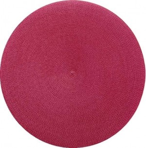Round Placemat in Cranberry
