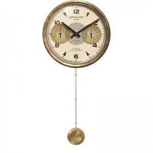 Chronograph Cream Clock