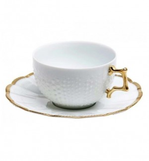 Corail Gold Tea Cup and Saucer