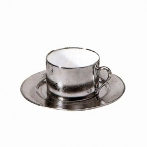 Carat Platinum Tea Cup and Saucer