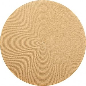 Round Placemat in Cream Toast