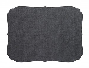 Curly Placemat Charcoal