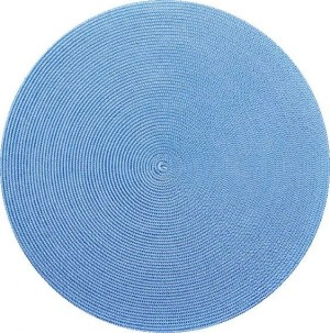 Round Placemat in Denim