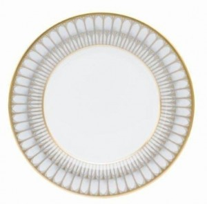Arcades Grey and Gold Dessert Plate