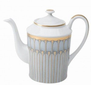 Arcades Grey and Gold Coffee Pot