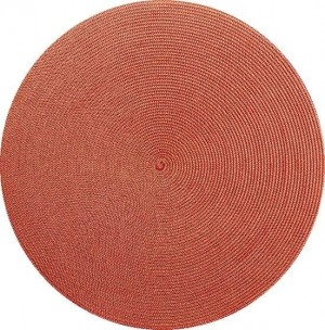 Round Placemat in Gold/Holiday Red