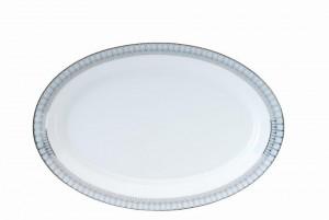 Arcades Grey and Platinum Oval Dish