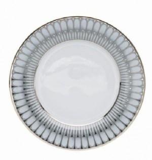 Arcades Grey and Platinum Dessert Plate