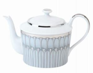 Arcades Grey and Platinum Tea Pot
