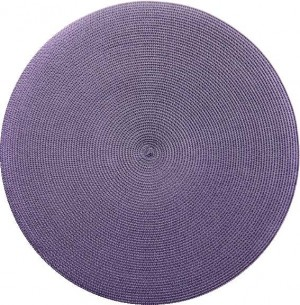 Round Placemat in Grey Prune