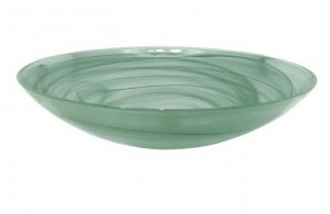 Green Alabaster Serving Bowl