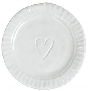Pietra Serena Heart Plate