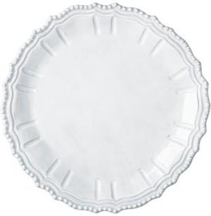 Incanto White Baroque Round Platter