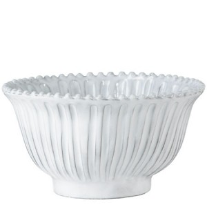 Incanto White Stripe Small Serving Bowl