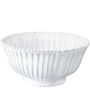 Incanto White Stripe Medium Serving Bowl