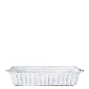Incanto White Stripe Medium Rectangular Baking Dish