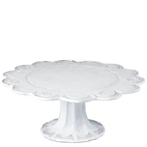 Incanto White Lace Large Cake Stand