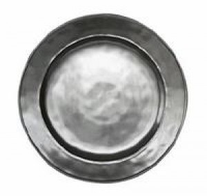 Pewter Stoneware Round Dinner Plate