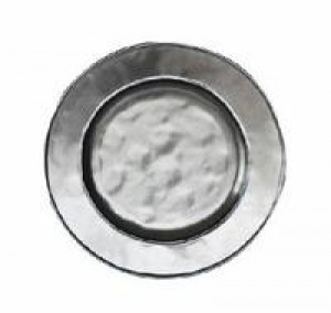 Pewter Stoneware Round Side Plate
