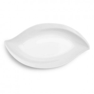 Large Petal White Melamine Serving Platter