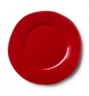 Lastra Red Dinner Plate