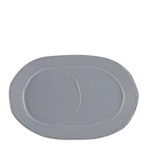 Lastra Gray Oval Tray