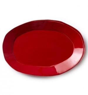 Lastra Red Oval Platter
