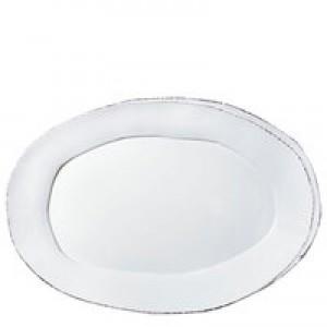Lastra White Oval Platter