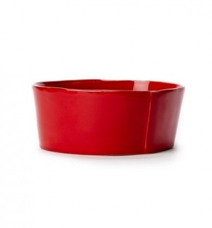 Lastra Red Medium Serving Bowl