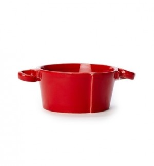 Lastra Red Small Handled Bowl