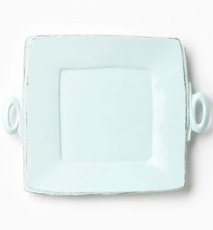 Lastra Aqua Handled Square Platter