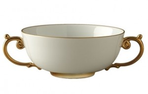 Aegean Gold Handled Soup Bowl