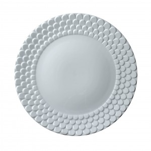 Aegean White Scupted Charger Plate