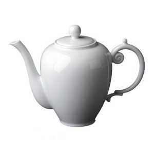 Aegean White Coffee Pot