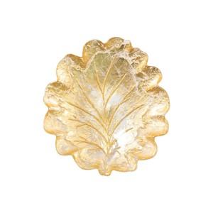 Moon Glass Leaf Salad Plate