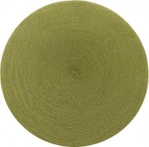 Round Placemat in Moss Canary