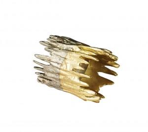 Patina Napkin Rings Gold/Silver