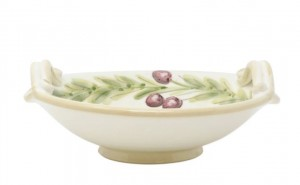 Olive Handled Medium Serving Bowl