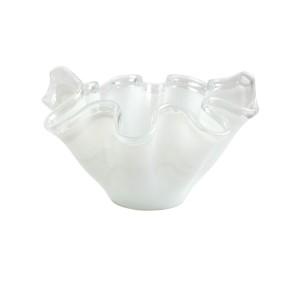 Onda Glass White Large Bowl