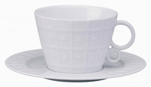 Osmose White Tea Cup and Saucer