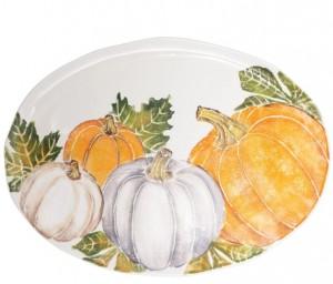 Pumpkins Large Oval Platter
