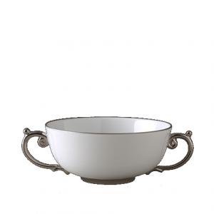 Aegean Platinum Handled Soup