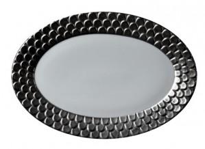 Aegean Platinum Oval Platter