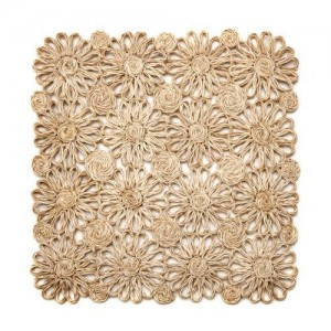 Patchwork Daisy Square Placemat in Natural
