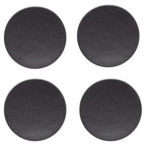Roda R Black Canapes Plate Set/4
