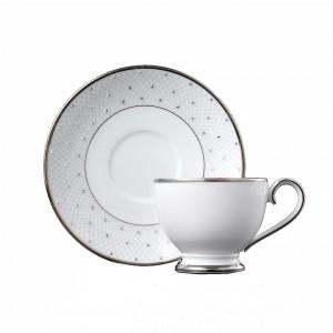 Princess Platinum Teacup and Saucer