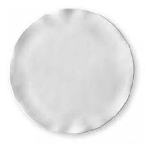 Ruffle White Round Platter